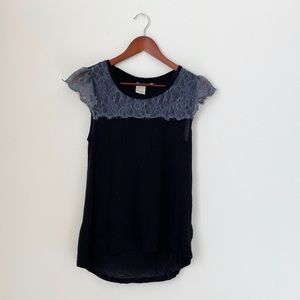 Anthropologie•Black Lace Shirt